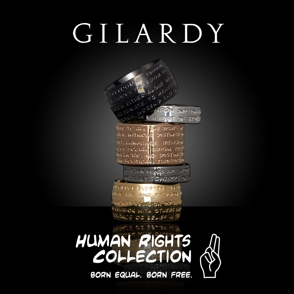 To the GILARDY HUMAN RIGHTS RINGS