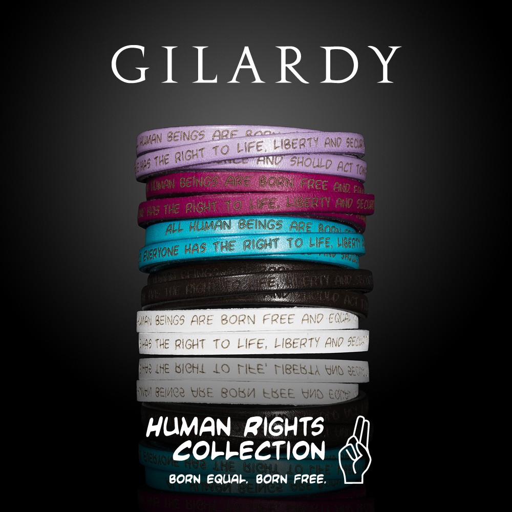 To the GILARDY HUMAN RIGHTS BRACELETS